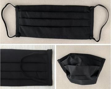 Bild von Mundschutz aus Baumwolle, schwarz (1 Stk) - L